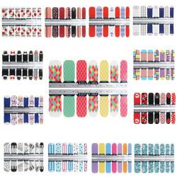 13 Stil Designs Stjernede Blomst Folier Nail Art Decal Sticker