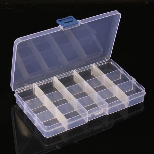 15 Compartment Plastic Storage Box Nail Art