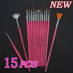 15 Nail Art Design Painting Tool Pen Polish Brush Set