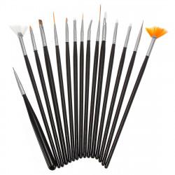 15PCS Nail art Design Gel pen Painting Tips Dotting Brush Set