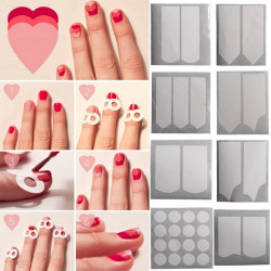 15 Styles Vit French Manicure Nagelkonst Sticker Tippar Guider