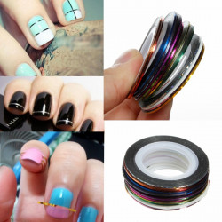 18 Colors Rolls Nail Art Striping Tape Line Sticker DIY Decoration