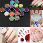 18 Colors Shiny Glitter Powder Dust Nail Art Manicure DIY Decoration Nail Art