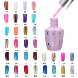 18ml Nagelkonst Soak Off Glitter 97-144 Färg UV Gel Polish Nagellack