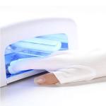 1 Par Hvid Negle Kit Anti UV Open-tåede Beskyttelseshandsker Negle