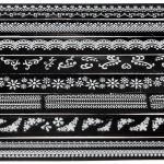 1x Blatt 3D Französisch Art weiße Spitze Nagel Kunst Entwurfs Aufkleber Abziehbilder Nageldesign