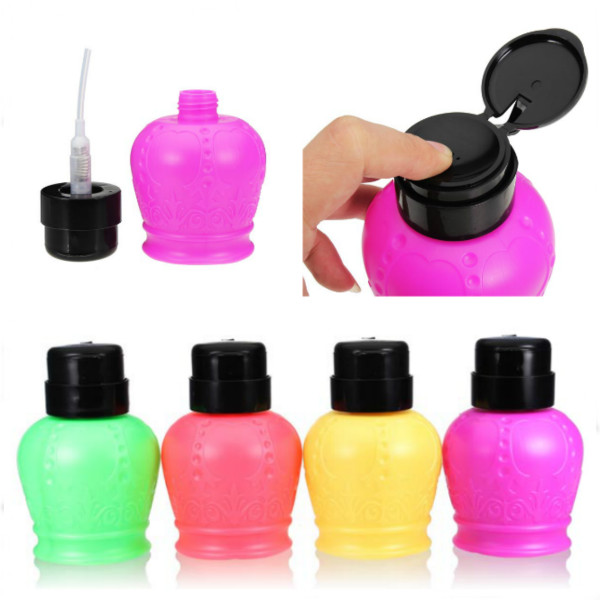 200ml Nail Polish Liquid Press Empty Pump Remover Dispenser Bottle Nail Art