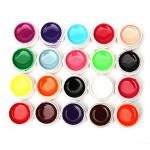 20 Mix Rena Färger Akryl Nagelkonst UV Gel Builder Naglar