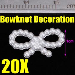 20x Pearls Rosett 3D Nagelkonst Tippar Design DIY Dekorationer
