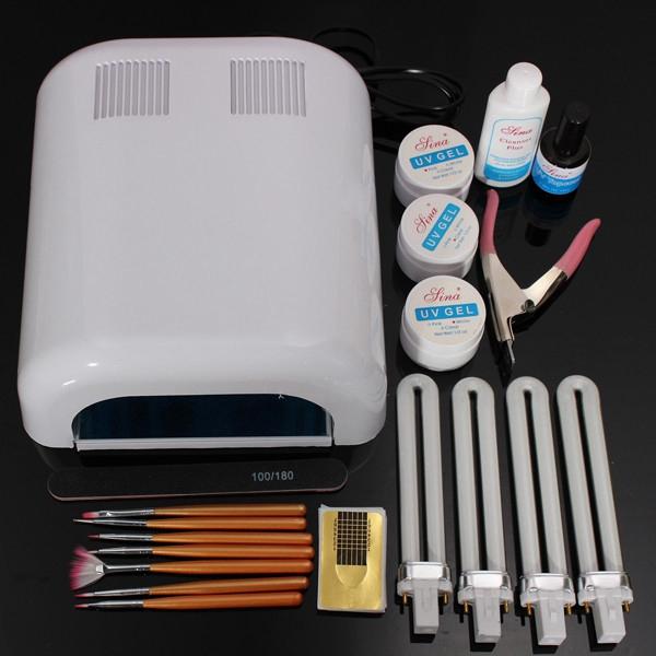 220-240V 36W Vit UV Gel Lampa Builder Forms Spik Manikyr Verktygssats Naglar