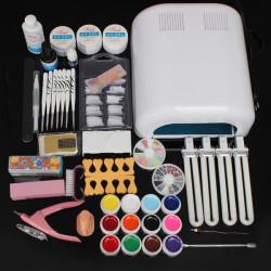 220V 36W UV Gel Lampe Negletipper Tipper Cuticle Manicure Værktøj Sæt Kit