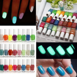 24 Farben Glow Leuchtstoff Neon Nagellack Hochglanzlack