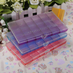 24 Grids Nail Stickers Jewelry Craft Plastic Storage Box Container