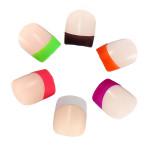 24stk 3D Französisch Neon Akrylsauer Nagel Kunst Design Voll Tipps Entwurf Nageldesign