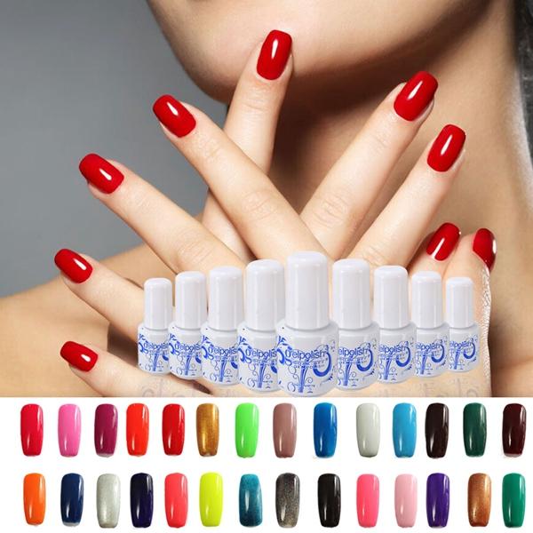 25 Farben 6ml Mini Format tränken weg von UV Gel Nagel Kunst Polnisch Lack Nageldesign