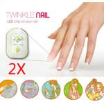 2stk Rotlicht NFC Nail Sticker Flash LED Magie Aufkleber Partei Verein Nageldesign