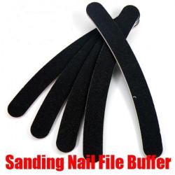 30X Black Nail Buffer Buffing File Crescent Sandpaper