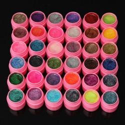 36 Farver Glitter Akryl UV Gel Builder Polish Sæt