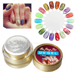 3D Bubbles Snake Veins UV Gel Top Coat Nail Art Tips Builder