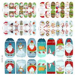 3D Juletræ Julemanden Lysende Negle Fuld Klistermærker