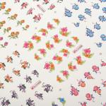 3D Blumen Karikatur Muster Nagel Zehen Aufkleber Nagel Kunst Dekoration Nageldesign