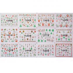3D Förgyllning Golden Christmas Style Nagelkonst Sticker