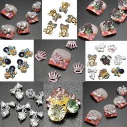 3D Glitzer Acryl Kristall Strass metallischen Nagel Kunst Aufkleber