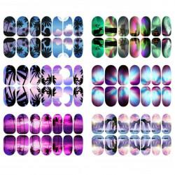 3D Vyer Serie Ljus Nail Folie Klistermärke Nagelkonst Dekal