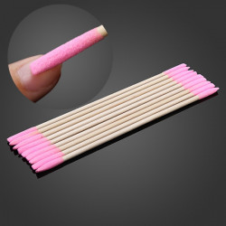 3Pcs Manicure Wooden Sanding Nail File Drill Polish Remover Stick