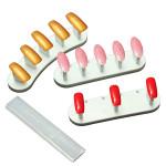 3stk Plast Negletipper Tipper Display Øve Værktøj Stand Holder Negle