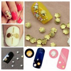 3mm Sliver Gold Shell Shape 3D Nail Art Decoration