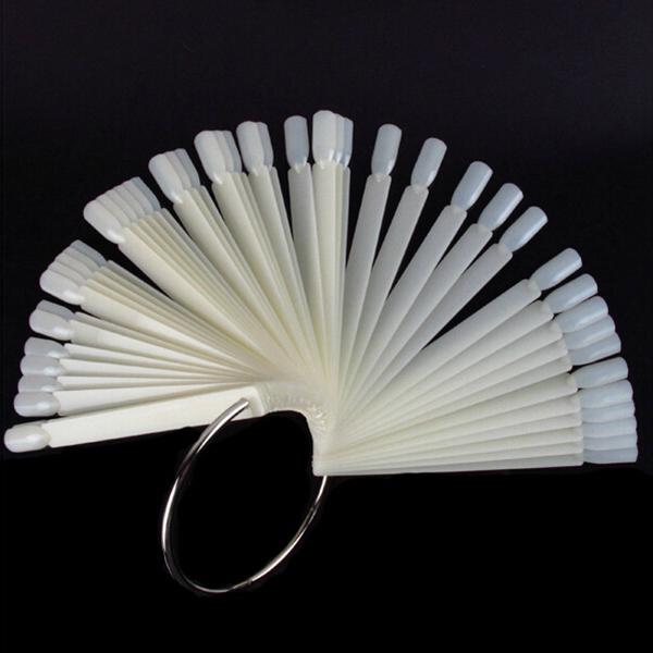 48 Beige Falsk Nagellack Display Tippar Stick Naglar