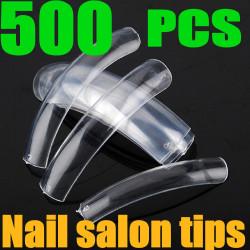 500PCS Transparent Salon False Acrylic 3D Nail Art tips