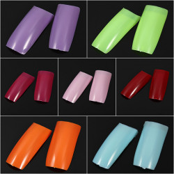 500Pcs French Style Purity UV Gel Acrylic False Nail Art Tips