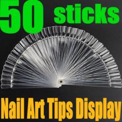 50stk falsche 3D Nagel Kunst Stick anzeigen Fan Board