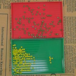 5st Plast Rhinestone Rektangel Fack Plate Nail Dish Tool