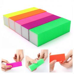 5st Fluorescerande Färg Buffing Slipnagelfilar Slipblock Manikyr Tool
