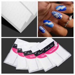 5Pcs French Manicure Stripe Edge Tip Guides Nail Art Sticker