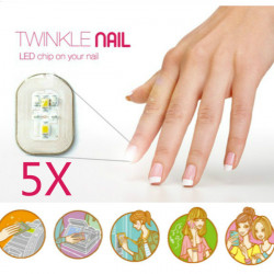 5st NFC Nail Klistermärke Flash LED Magiska Dekal Party Club