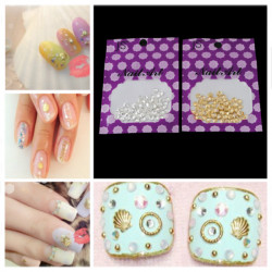 5mm Sliver Gold Shell Shape 3D Nail Art Decoration