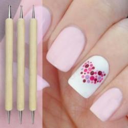 5stk Nail Art Tip Dotting Pen Sæt Manicure Painting Kit Design 2-Vejs