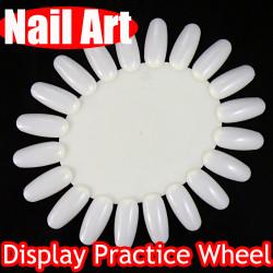 5x 3D Nail Art False Fake Tips Display Practice Tool Wheel