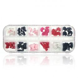 60pcs 3D Resin Bowknot Rhinestone Nail Cell Phone Decoration