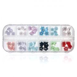 60pcs 3D Resin Flower Rhinestone Nail Cell Phone Decoration