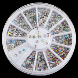 6 Mix Shape Clear Acrylic Nail Art Decoration Wheel
