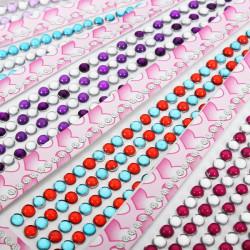 7 Colors Runda Formen Rhinestone Nagelkonst Mobiltelefon Dekoration