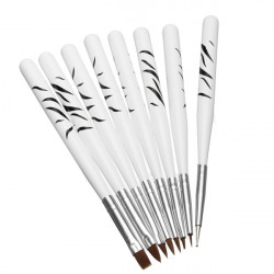 8st Nagelkonst Design Polsk Borstar Målning Pen Drawing Liners Tool