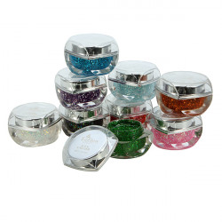 9 Color Glitter Sequins Acrylic UV Gel Nail Art Decorations