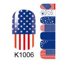 American Flag Nagel Kunst Sticker 3D Design Nagellack Aufkleber