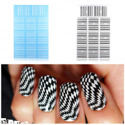 BLE Bølget Nail Art Vand Transfer Decal Sticker